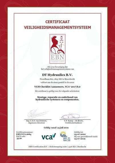 25-07-2019: Certificering VCA*